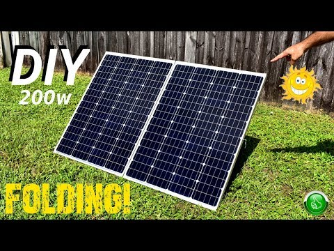 Diy Lowest Cost 200w Monocrystalline Folding Solar Panel Youtube In 2020 Solar Panels Solar 200w