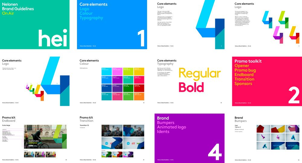 new logo, identity, and on-air look for nelonenproud creative, Powerpoint templates