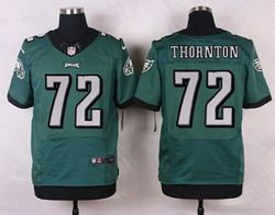6f84b25f441 Nike Philadelphia Eagles Jersey 72 Cedric Thornton Midnight Green Team  Color Men's Stitched NFL New Elite Jerseys