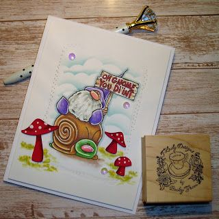 TLady Designs Oh Gnome! Custom rubber stamps, Cloud