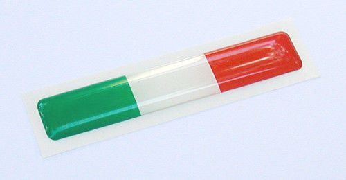 Italia Flag Ducati Aprilia Decal Sticker Pair 3 X 0.5