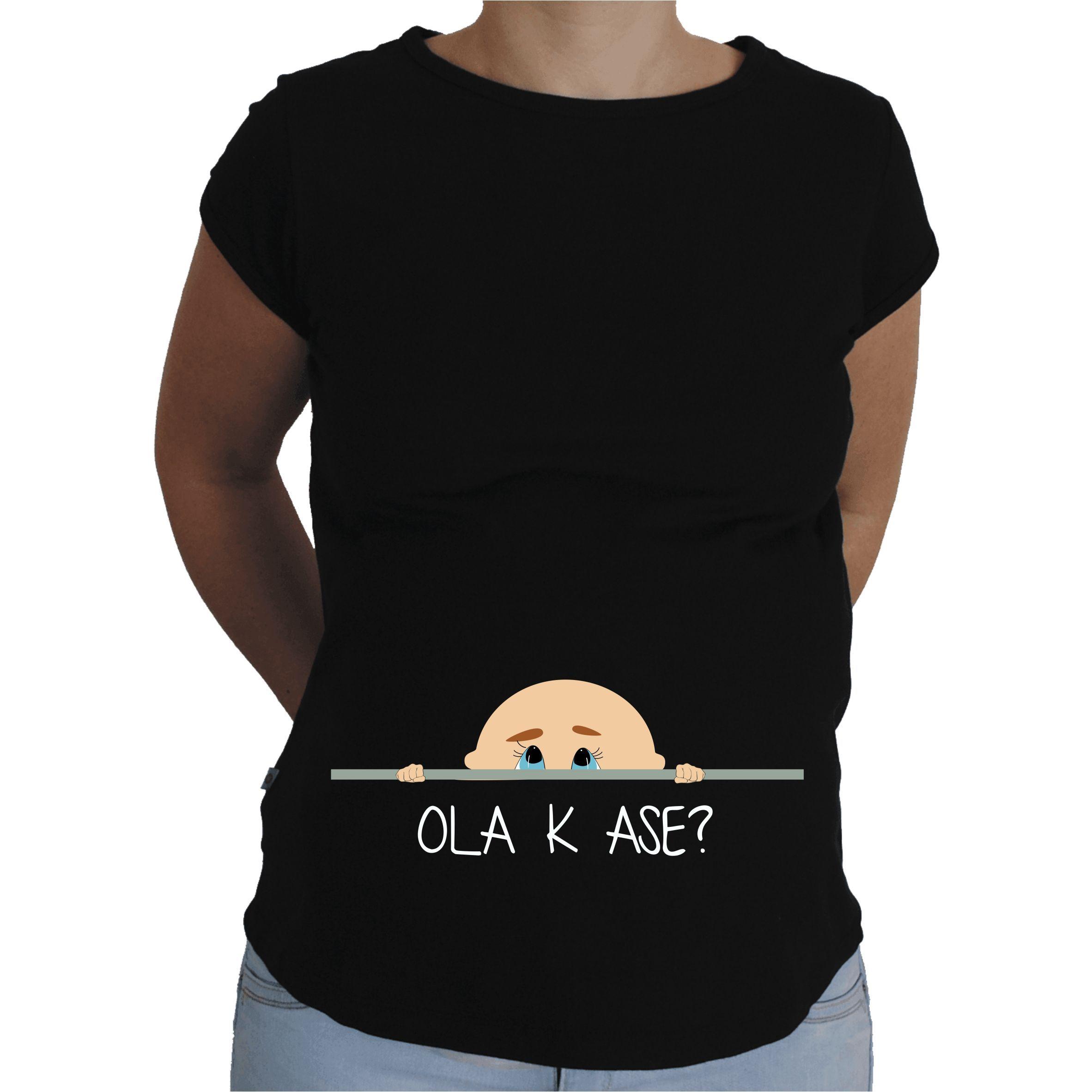 9204fb2ae0d Camiseta para embarazada Divertida - Bebe chico cotilla. | Poleras ...