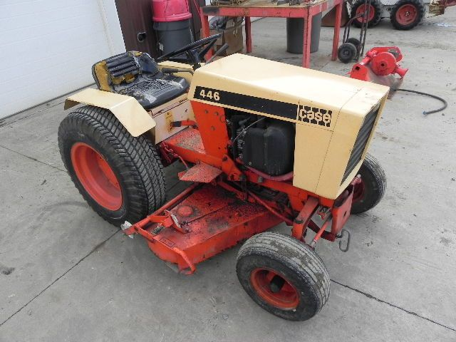 Case 446 Hydro Garden Tractor Lawn Mower Big Wheel Onan Engine