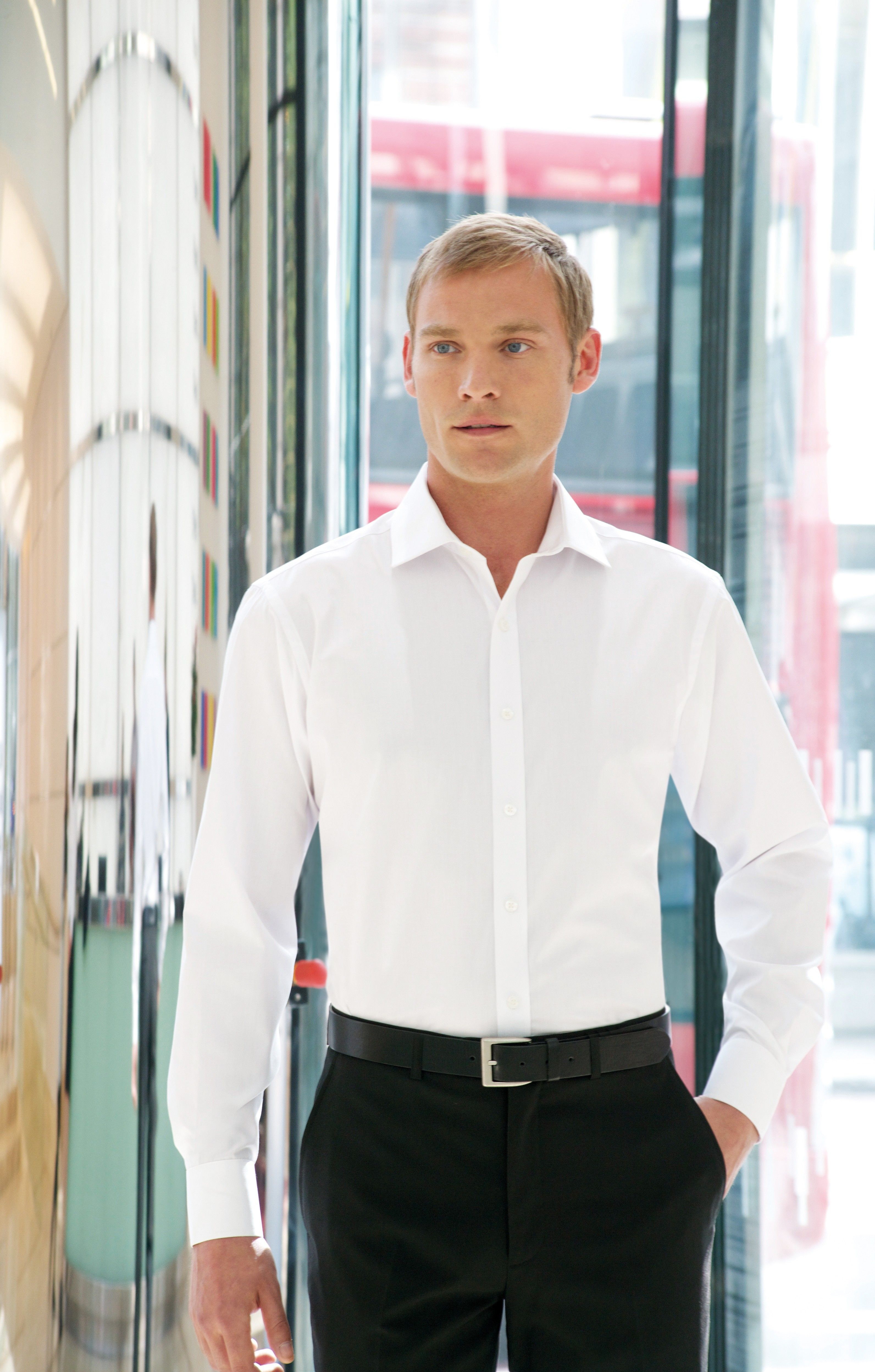 Alba Slim Fit L/S Mens Shirt Cotton Rich Easy-to-Iron - Our Collections