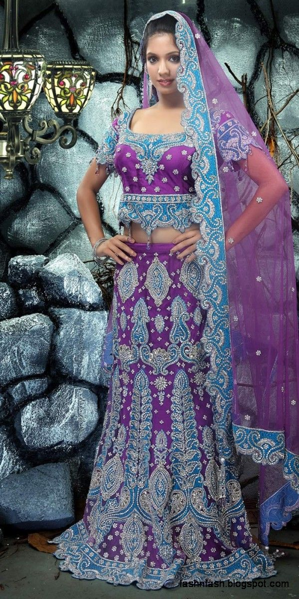 Purple Green Blue Indian Clothing For Women