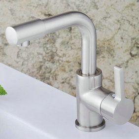 Centerset contemporain nickel brossé robinet évier salle de bains, bassin de prises T1782S