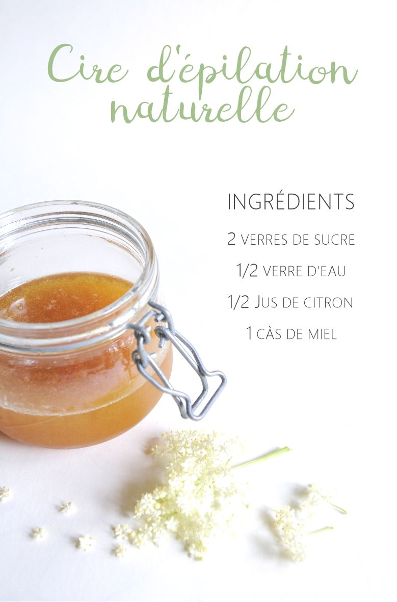 Cire d'épilation naturelle : sucre & citron | DIY Beauté Naturelle | Épilation naturelle, Cire ...