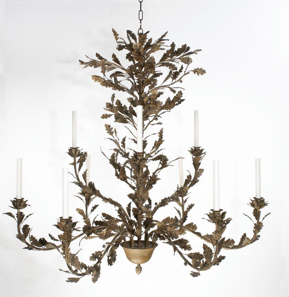oak branch chandelier - 9 arm | French chandeliers | Pinterest ...