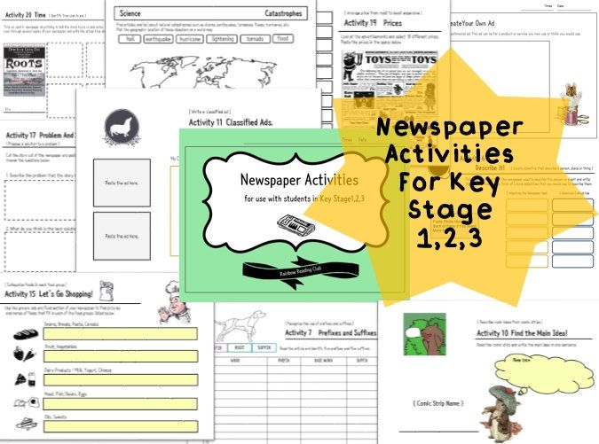 NEWSPAPER ACTIVITIES ( NIE ) for Creative Writing by - creative writing resume