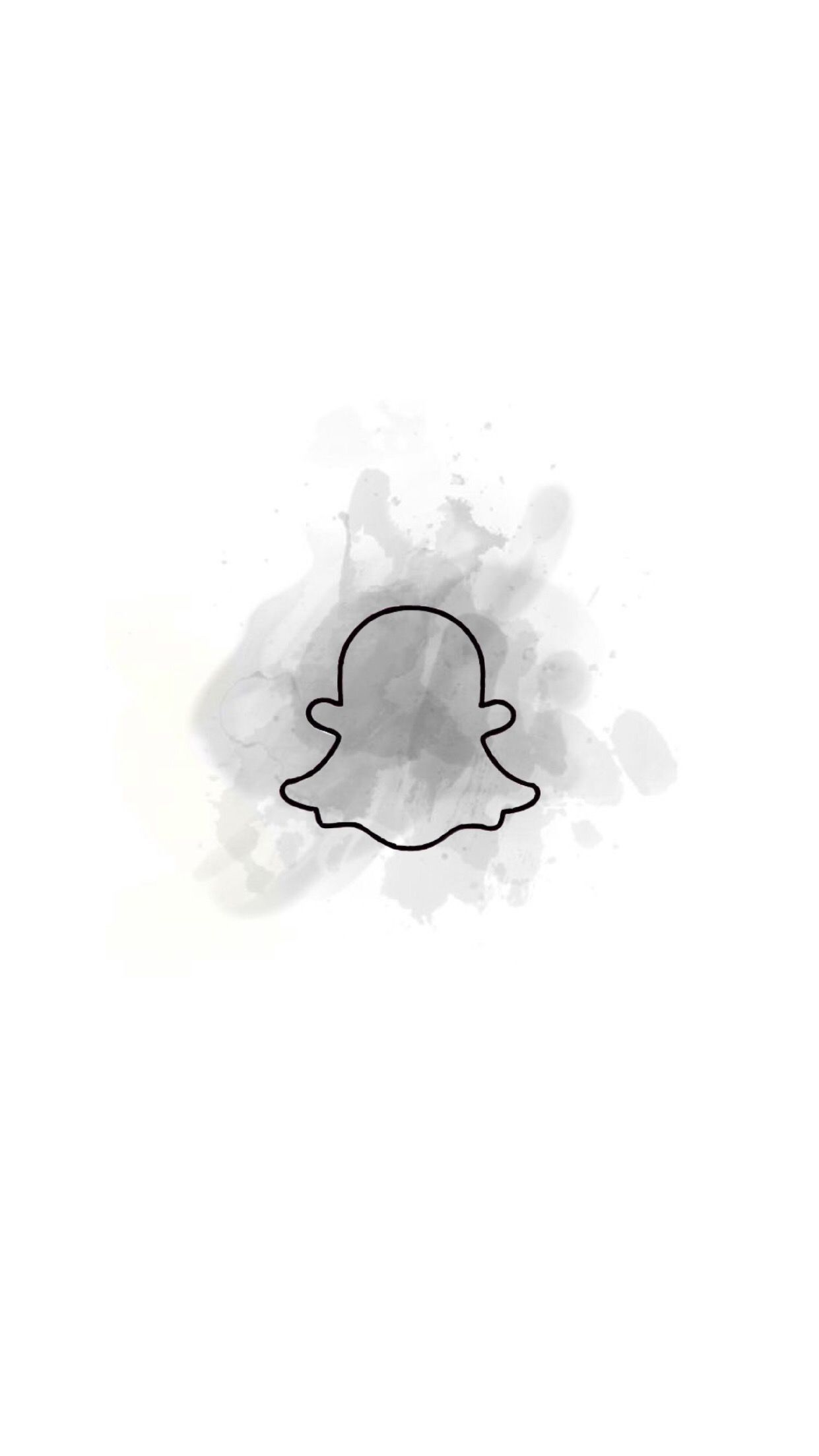 White Aesthetic Snapchat Logo