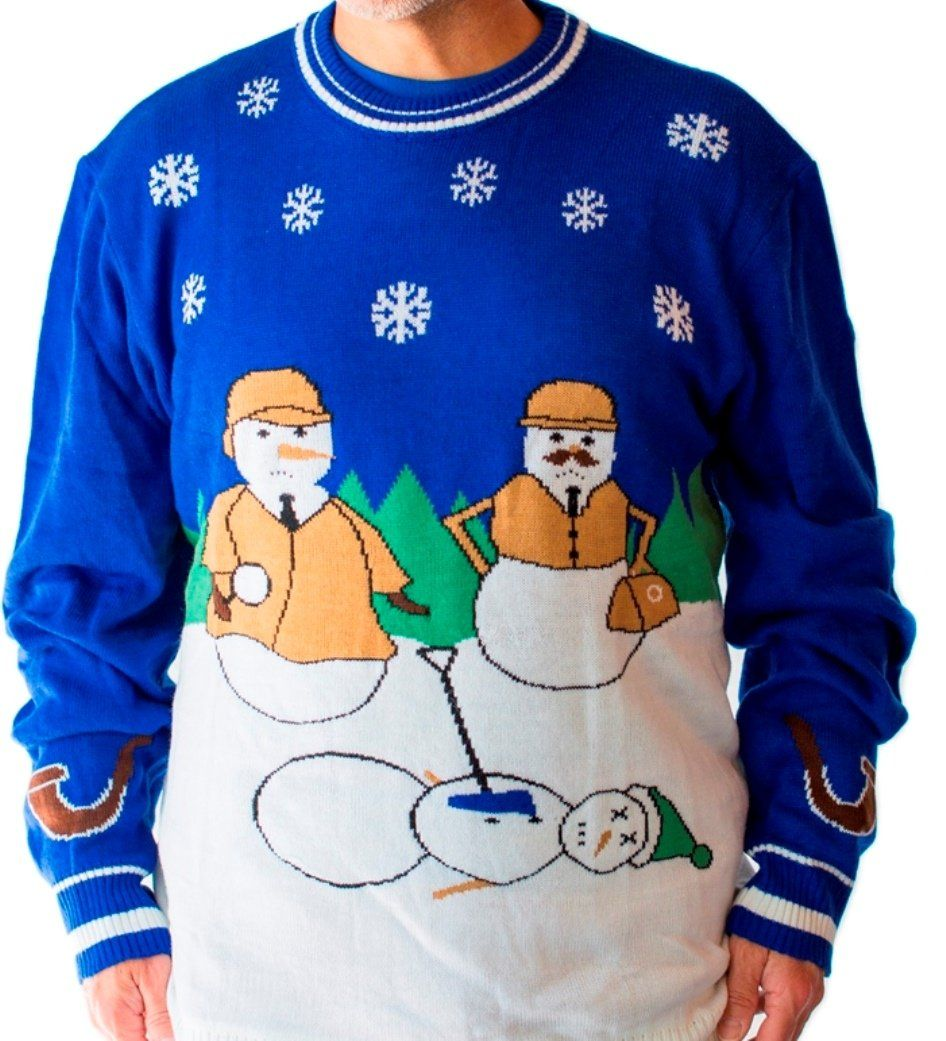 889b72f3de8c Sherlock Snowman Murder - Ugly Christmas Sweater