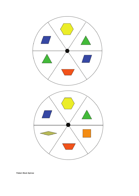 Need A Pattern Block Spinners HereS A Free Template Create