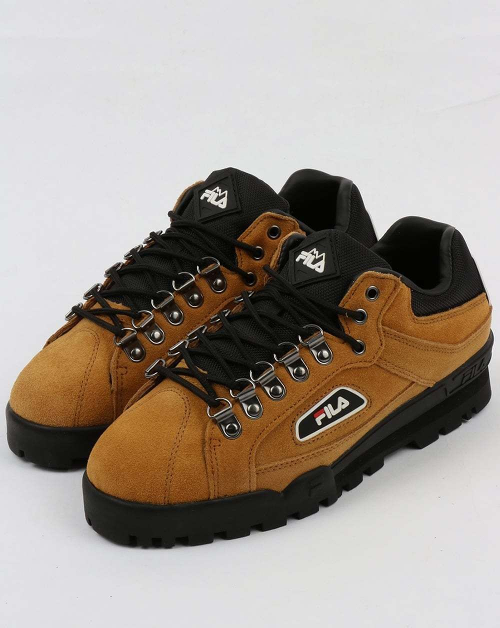 7001b296d4b Fila Vintage Trailblazer Suede Boots in Honey Mustard 80s casual 90s rave  hiking
