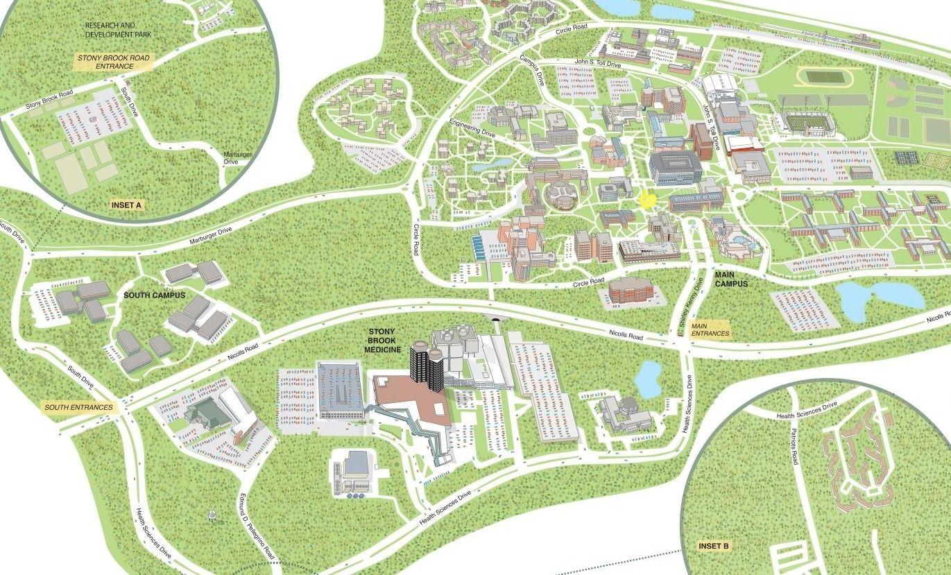 Stony Brook University Interactive Campus Map Campus Map Stony Brook University Stony Brook