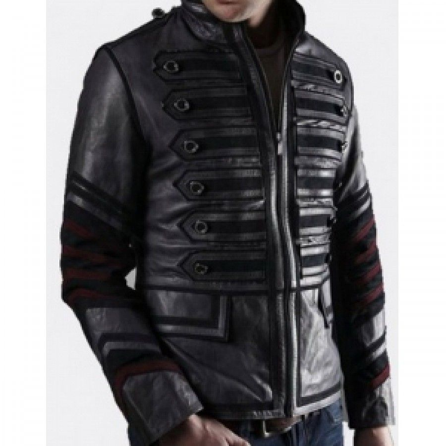Military Style Rider Leather Jacket | Henry V | Pinterest ...