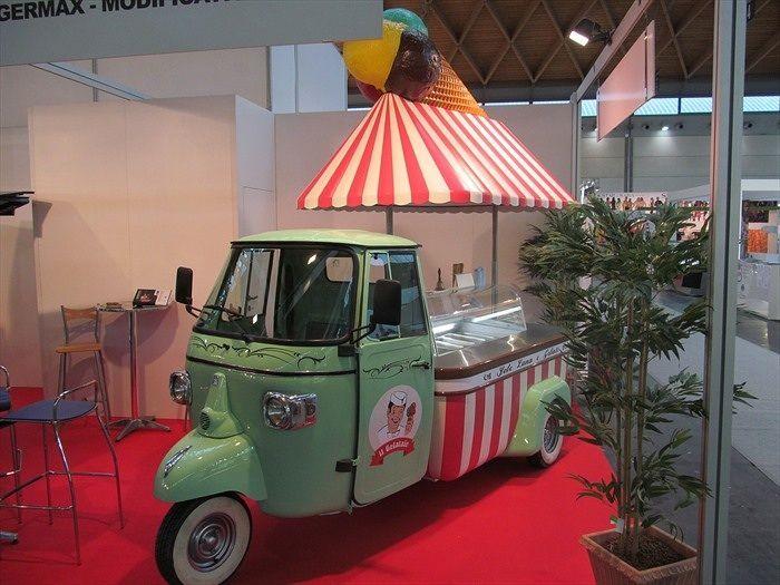 Retro Italian Gelato Truck