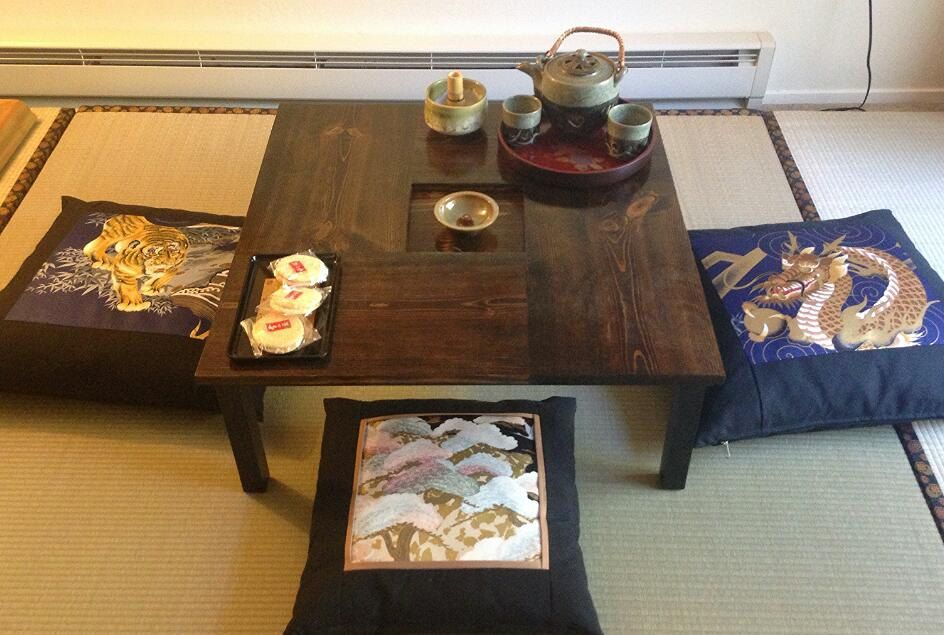 "Beautiful 24"" x 24"" Chabudai Tea Table with recessed center by NobleTimber on Etsy"