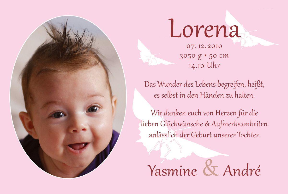 Prächtig Dankeskarten Geburt : Dankeskarten Geburtstag - Danksagung Karten #AA_17