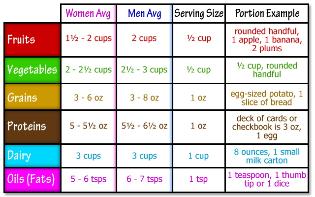 Food portion chart well but  what about all those diets out there also best size charts images healthy eating rh pinterest