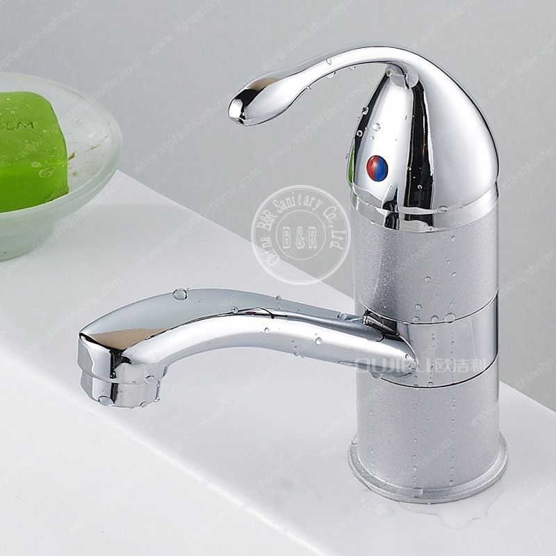 Free Shipping Bathroom Faucet Stainless Steel Chrome Basin Cold And Hot Water Tap Sink