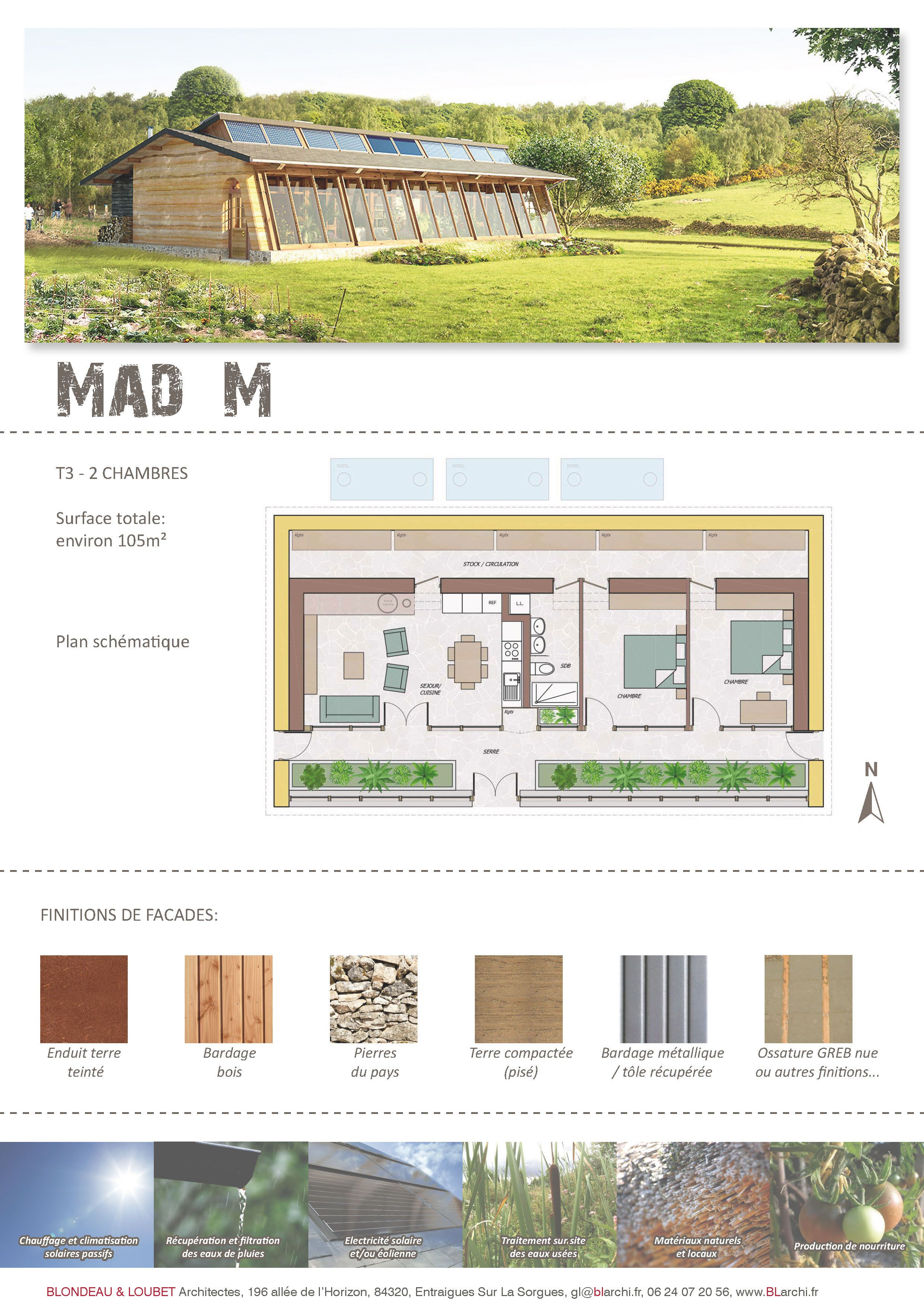 Earthship plans and designs pictures - Mad M Earthship 2 Chambres More