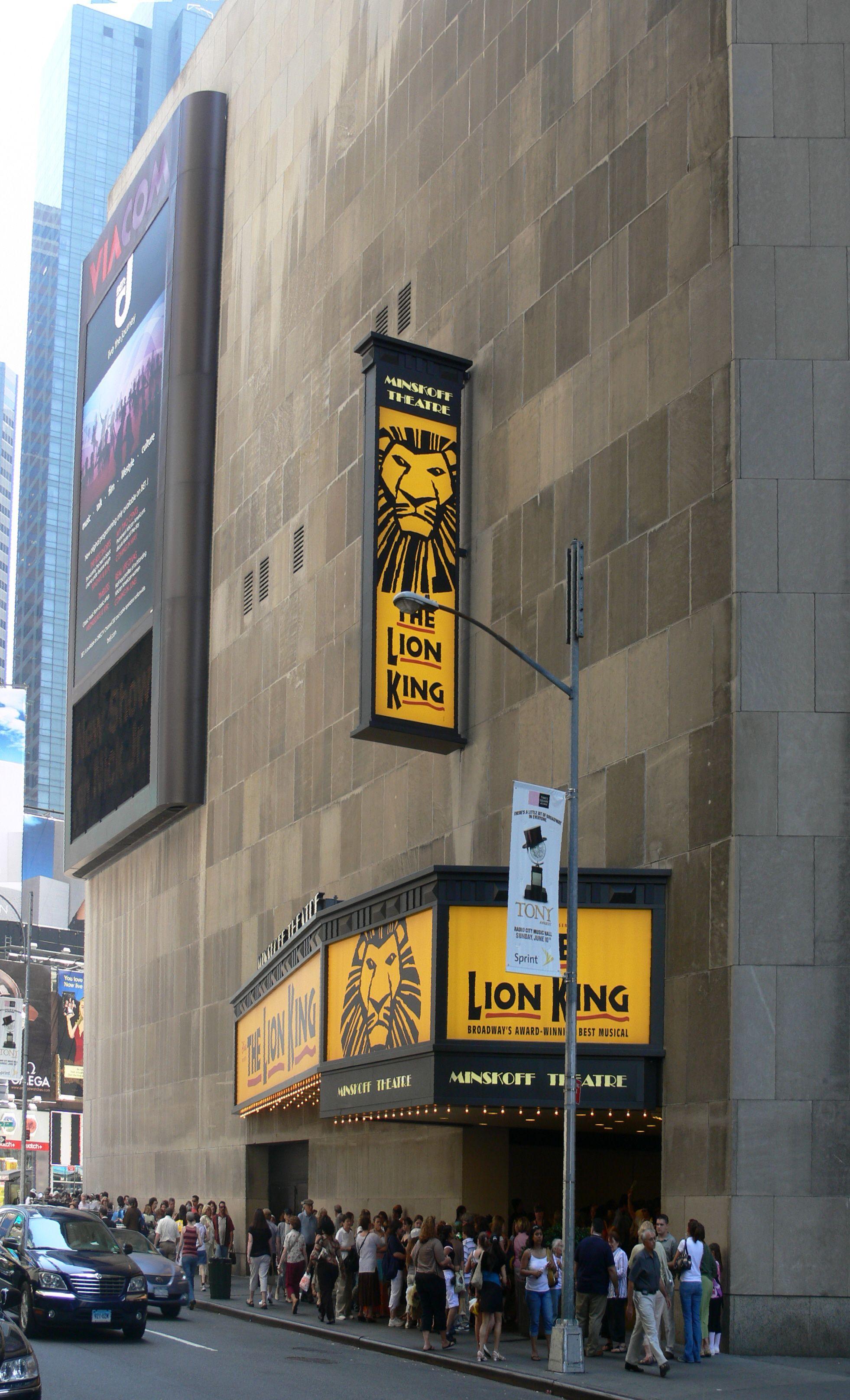 """* Manhattan * Broadway. """"Minskoff Theatre"""". # New York"""