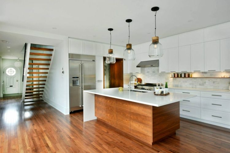Weiße Küche mit Kücheninsel   Küche   Pinterest   weiße Küchen ...