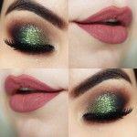Tutorial - maquiagem rápida e fácil verde natalina (que eu fiz na Nina Secrets)