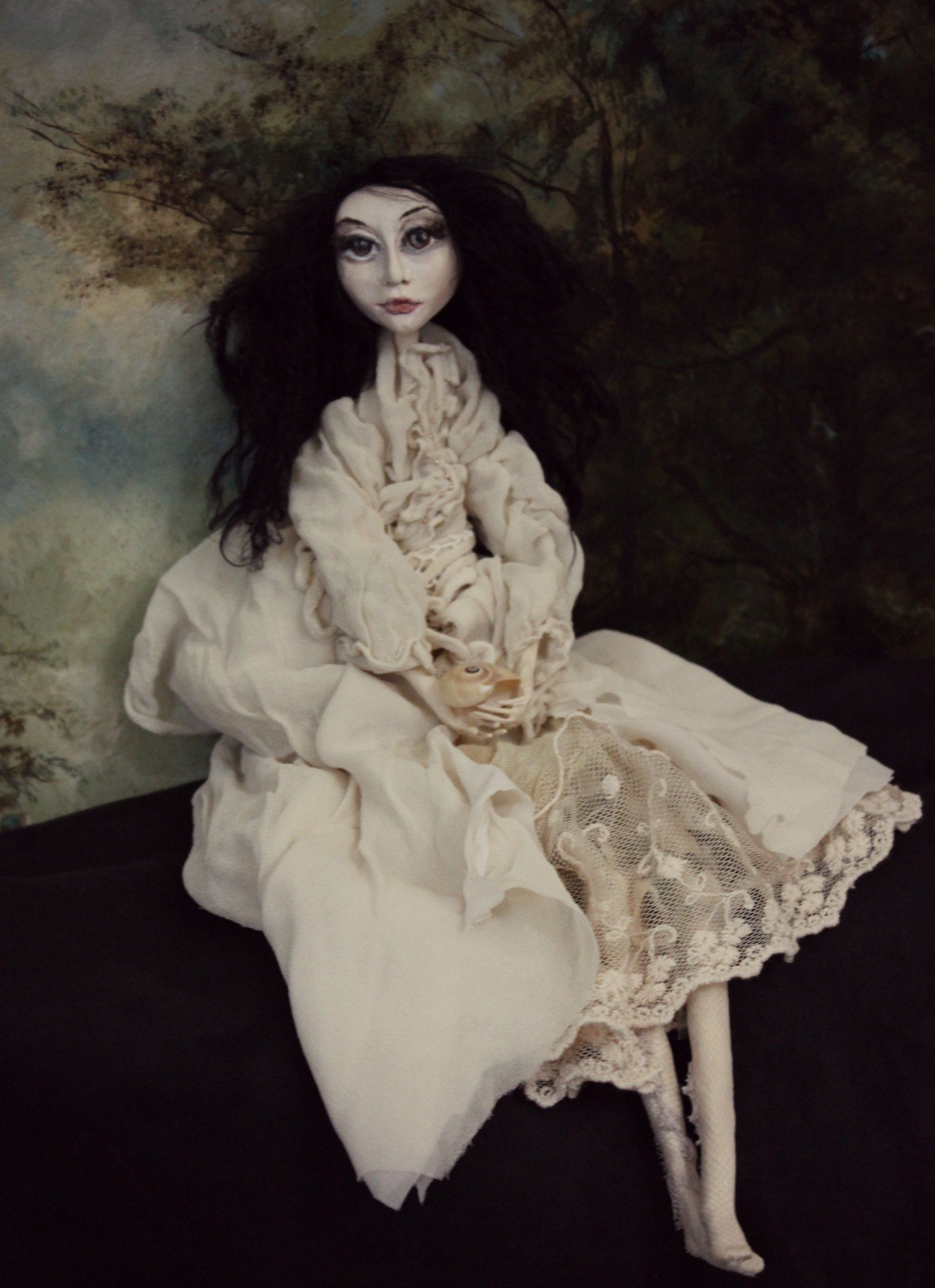 """Art Doll for sale. She Came From The Wide Sargasso Sea – """"Blot out the moon, Pull down the stars. Love in the dark, for we're for the dark So soon, so soon."""""""