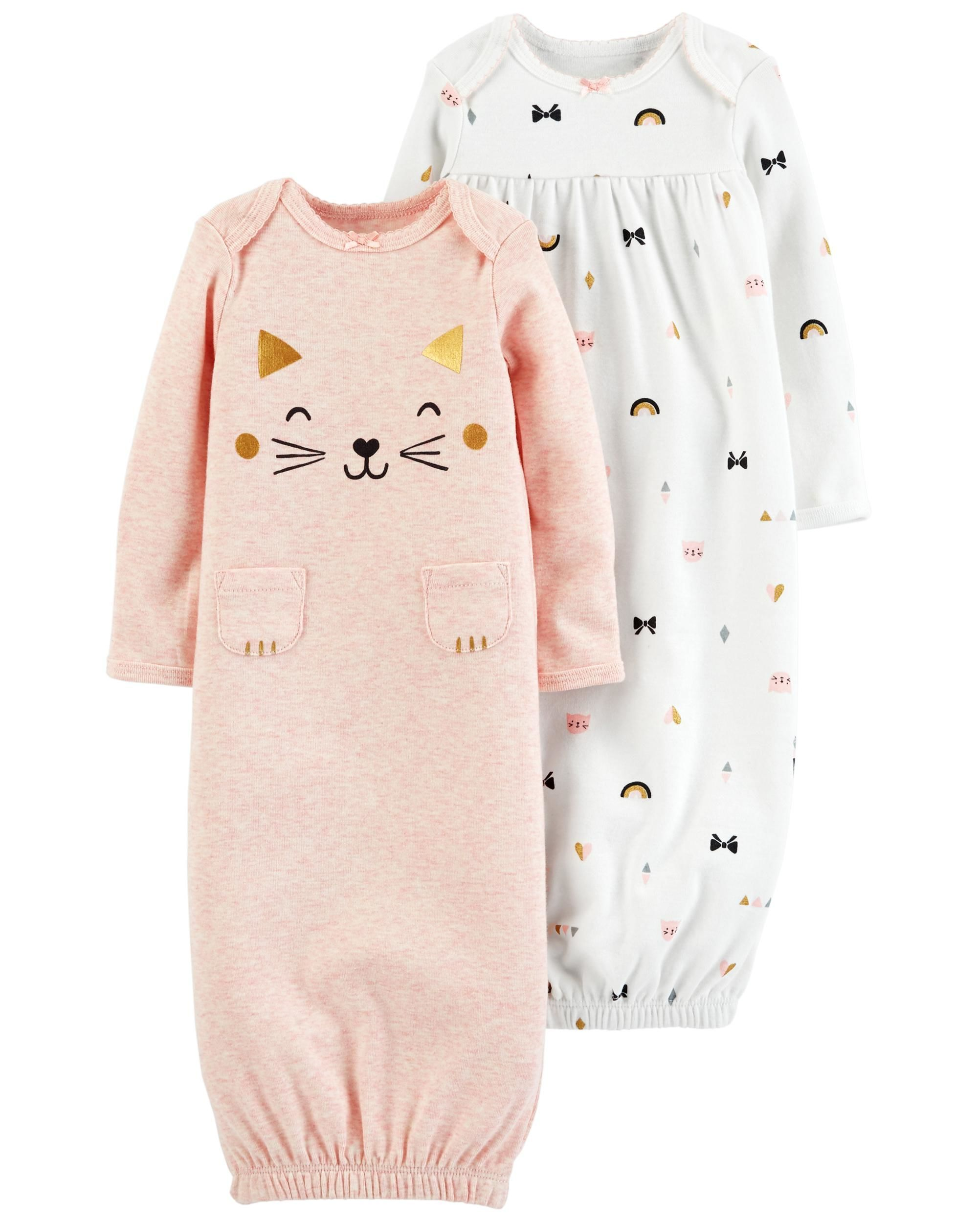 32c70c7d0 2-Pack Babysoft Sleeper Gowns | Future baby | Carters baby girl ...