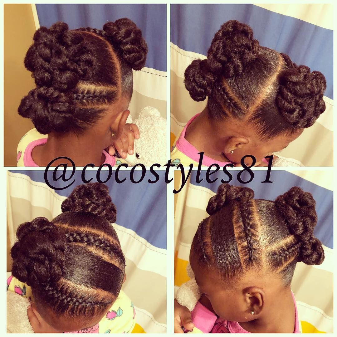 This Week S Quick Simple Protective Style We Did Before Bed Last Night Nohairadded Kid Style Natural Hairstyles For Kids Kids Hairstyles Hair Styles
