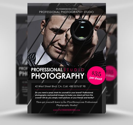 Free Photography Flyer Template Photography Flyer Free Psd