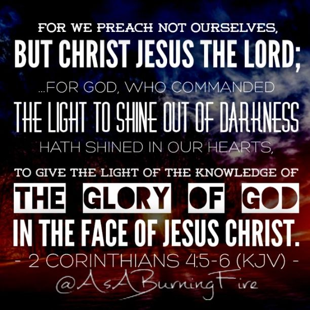 The Glory Of God In The Face Of Jesus Christ