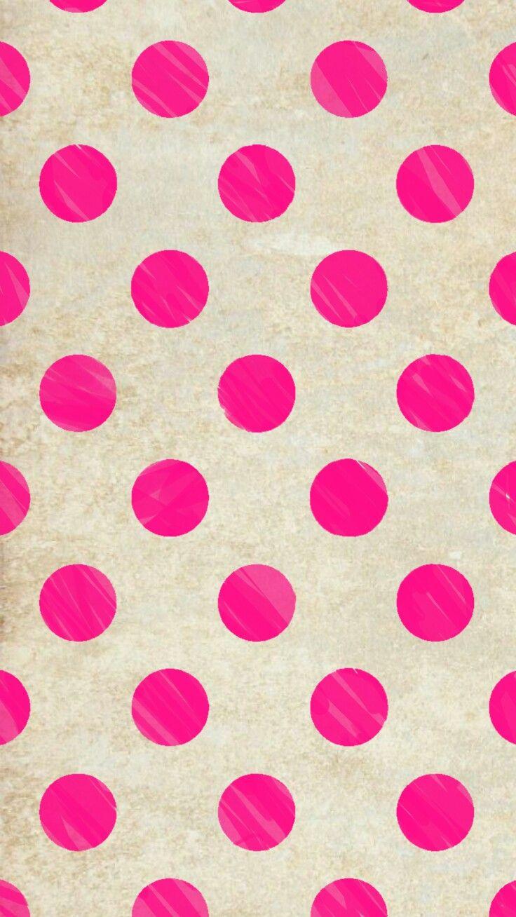 Pink polka dots Iphone wallpaper glitter, Polka dots