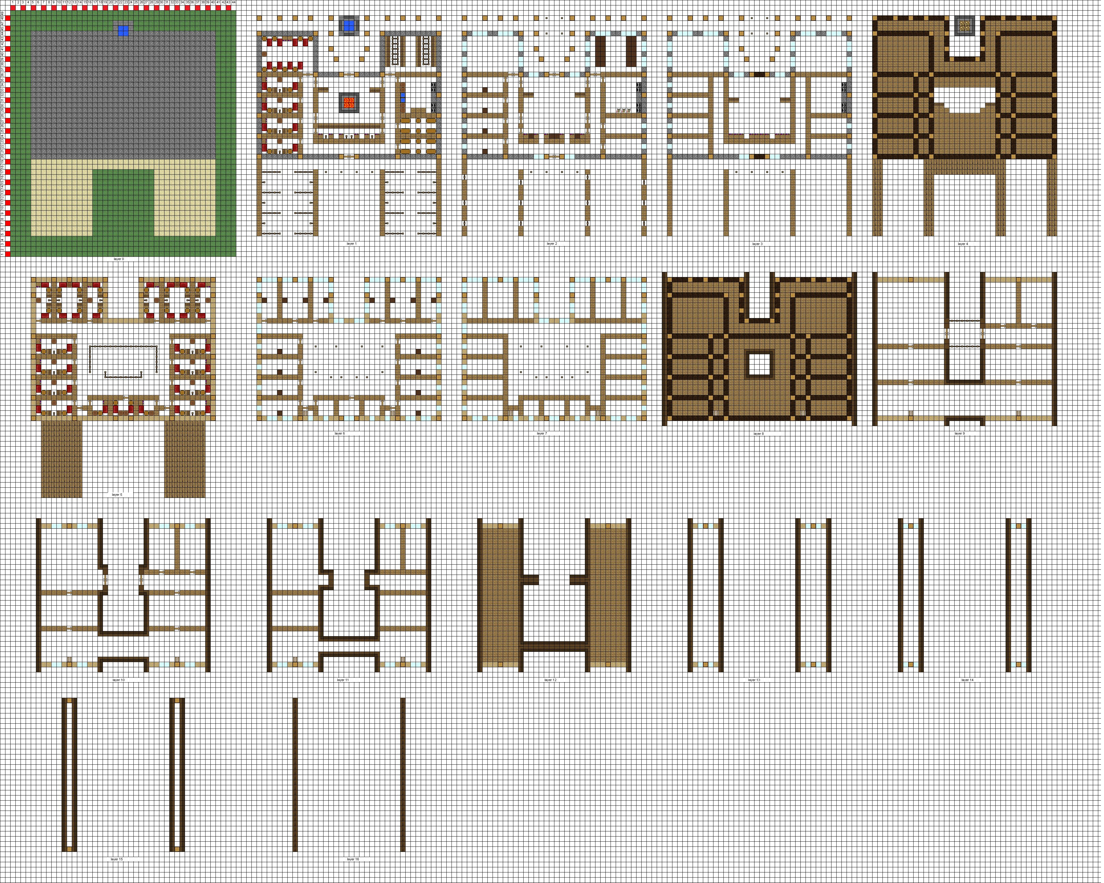 Minecraft large Inn floorplans WiP by ColtCoyote on DeviantArt