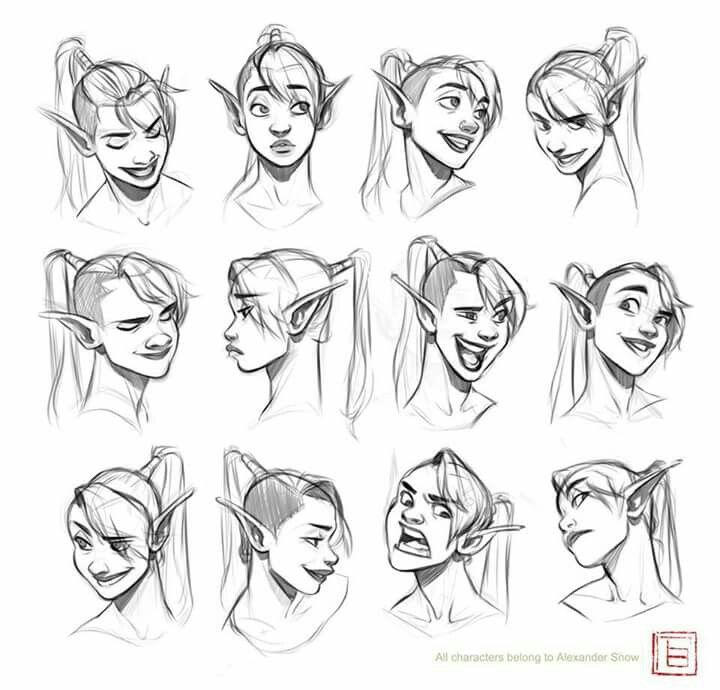 Facial Expression Reference Woman Face Reference Drawing