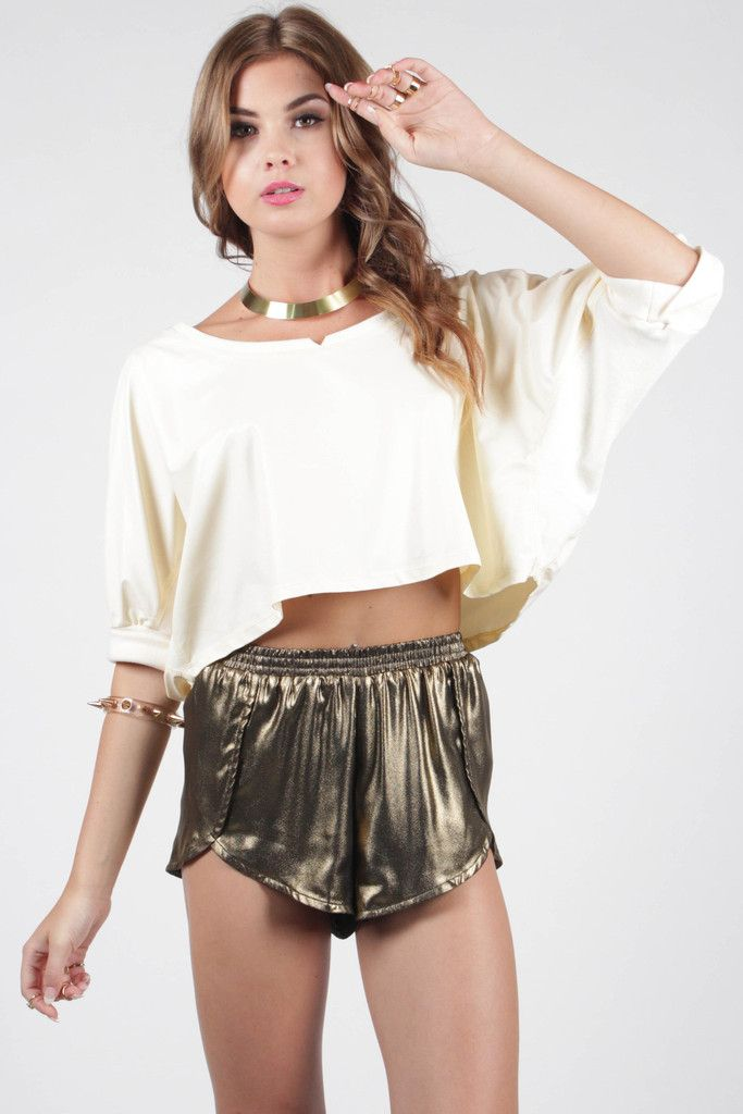 Leather Lust Crop Top - Cream