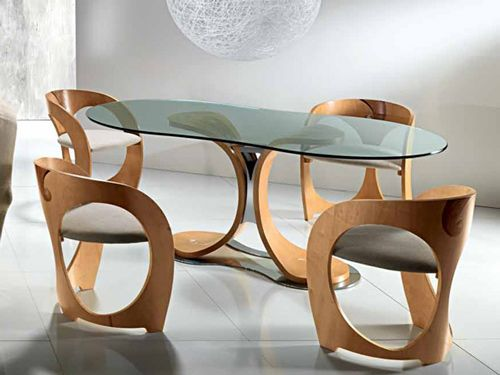 Fantastic Dining Table And Chairs By Carpanelli Oval Glass