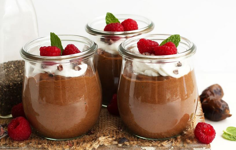 Overnight Chocolate Chia Seed Pudding Con Imagenes Pudin De