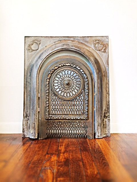 Simply Gorgeous Late 1800s Early 1900s Cast Iron Fireplace