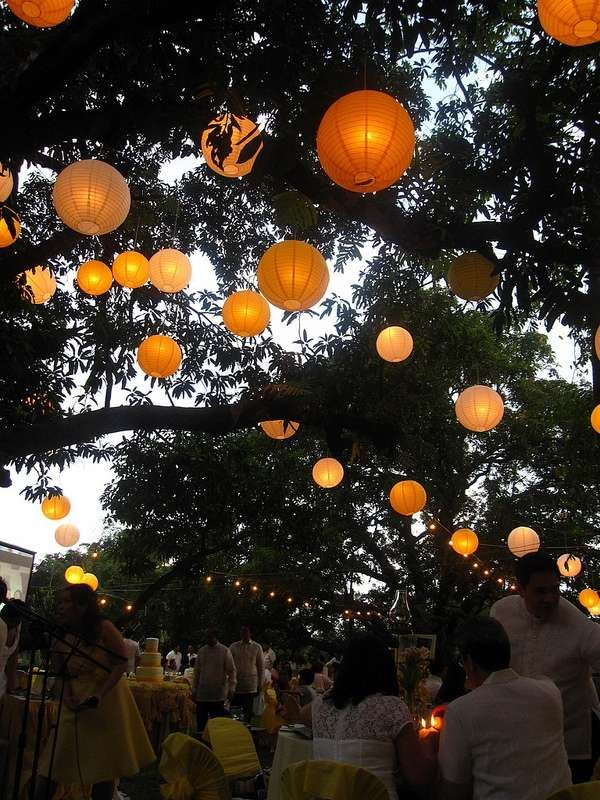 Outdoor Entertaining Lighting Ideas Outdoor Wedding Party Decor Lanterns  Trees