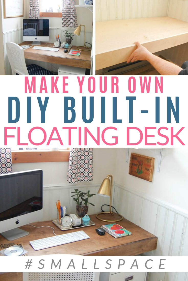 Build A Floating Desk Floating Desk Small Closet Space Closet Desk
