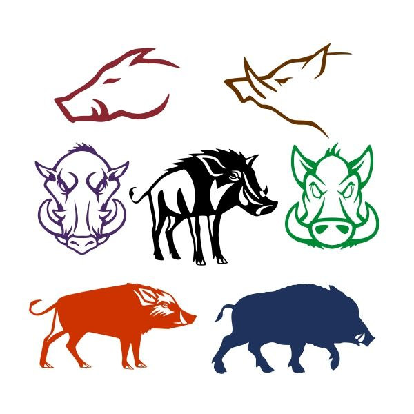 pin by cuttabledesigns on animals pinterest coreldraw wild boar rh pinterest com wild boar head clipart wild boar clipart black and white