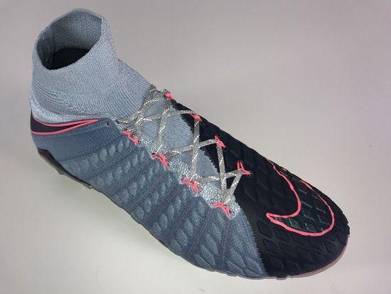 f4f34e56ec5d SR4U Reflective Metallic Silver Soccer Laces on Nike Hypervenom Phantom 3  DF Rising Fast Pack
