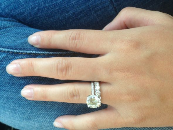 I Was Wondering How A Wedding Band That Has Larger Diamonds Then The In Your Engagement Ring Would Look