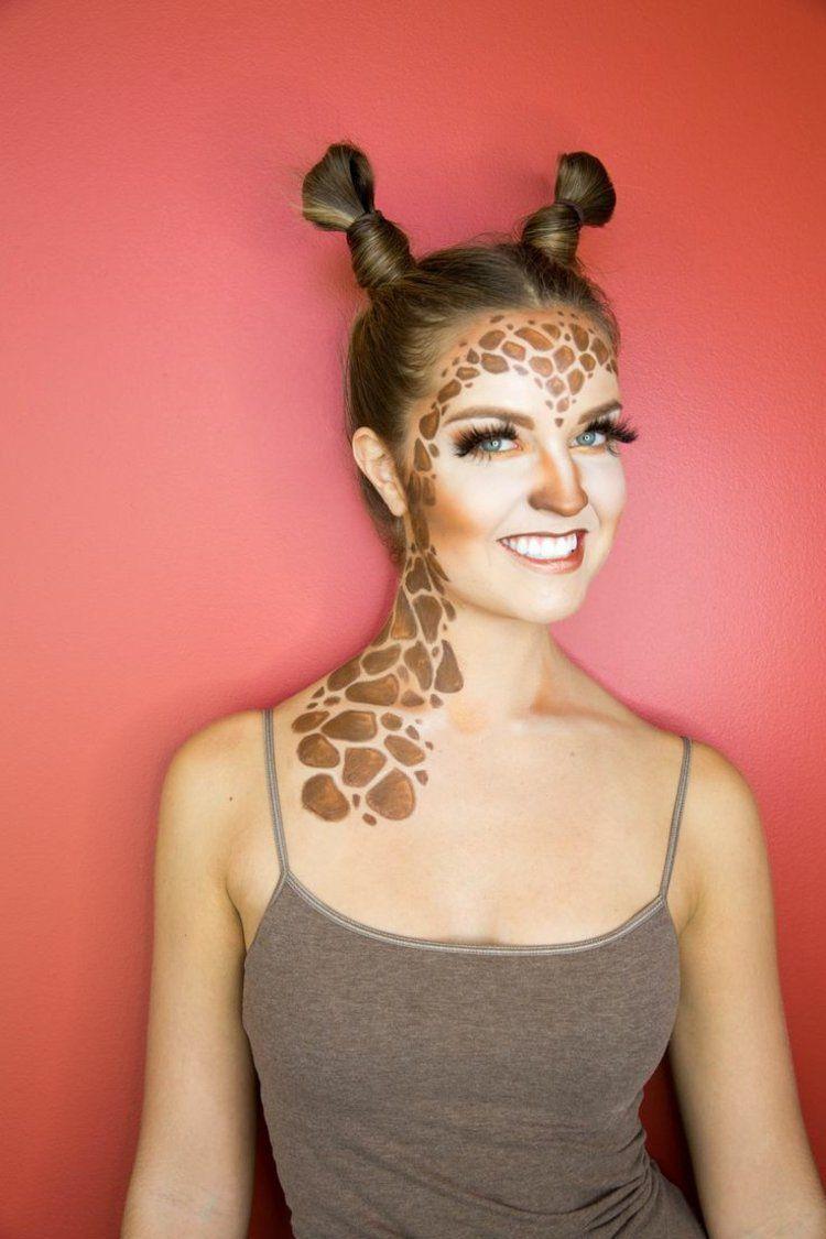 schminken zum karneval als giraffe fasching pinterest fasching kost m und karneval. Black Bedroom Furniture Sets. Home Design Ideas