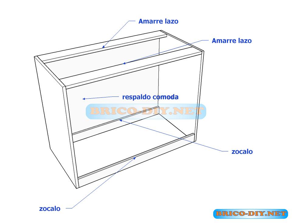 Como hacer comoda melamina muebles pinterest c moda for Como hacer una comoda de madera pdf