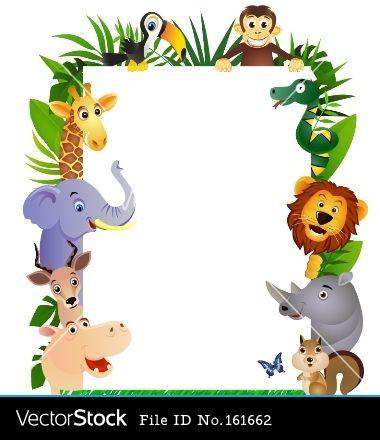 animal-cartoon-frame-vector.jpg (380×440) | Baby oh baby ...