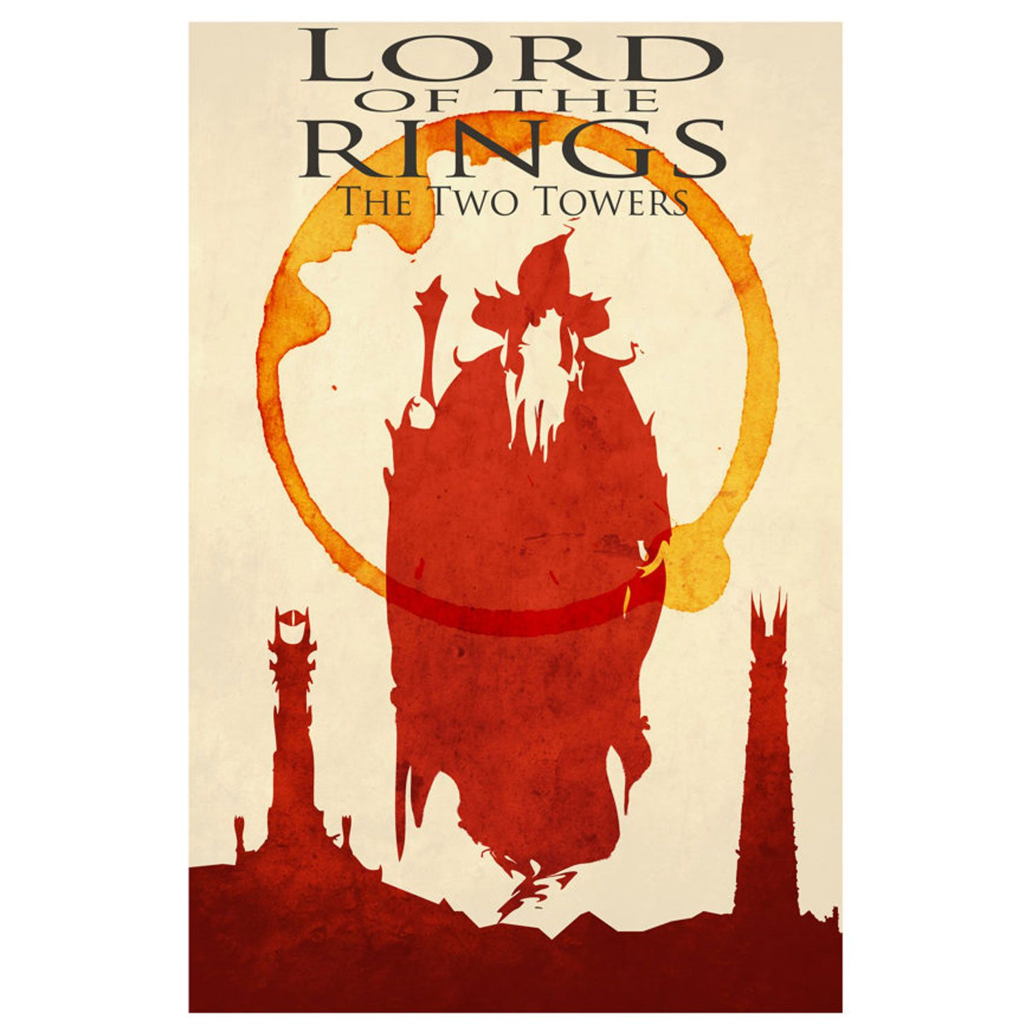 Lord Of The Rings Movie Poster The Two Towers 12 X 16 Balines Serier