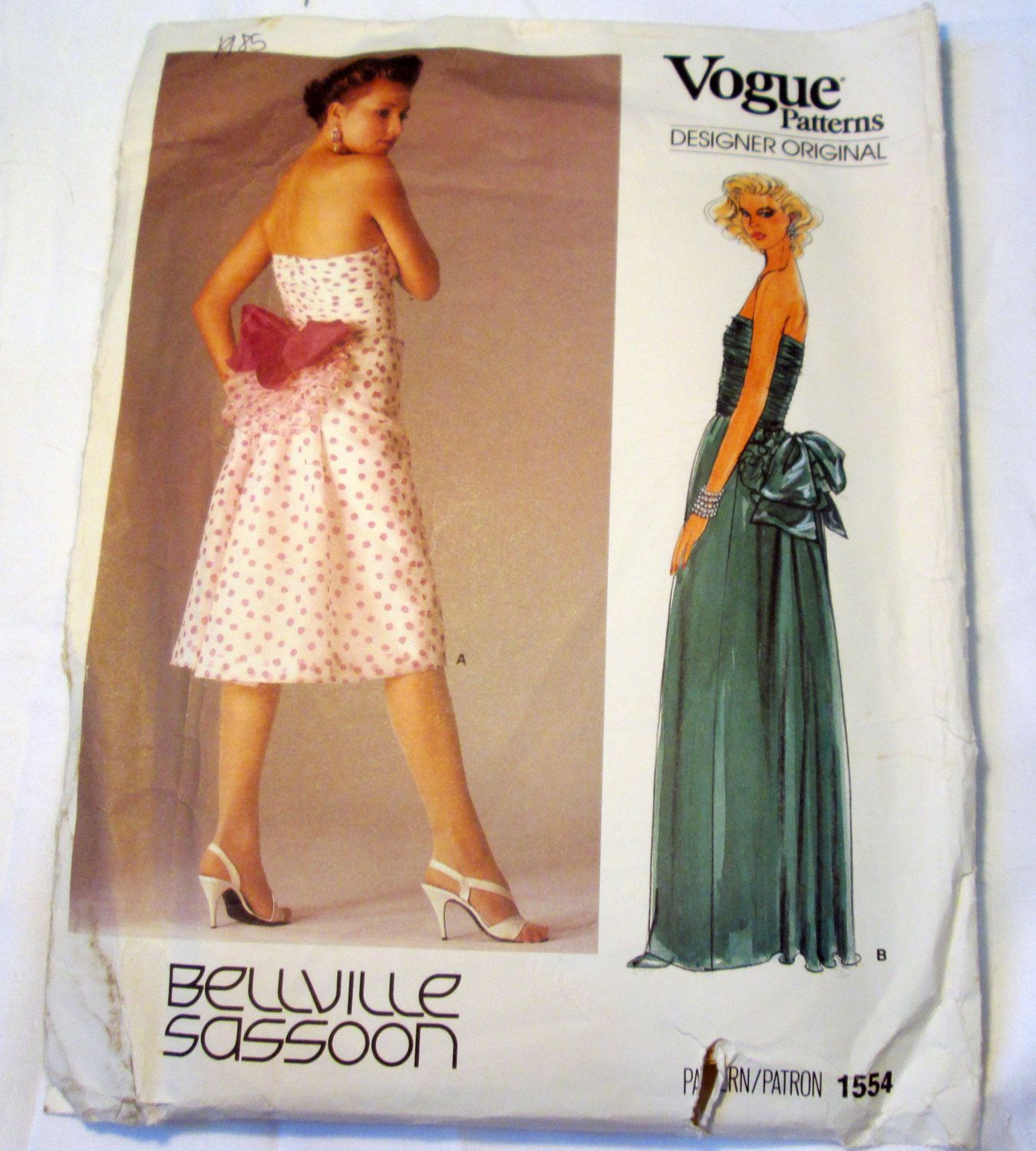 S strapless evening gown cocktail dress bellville sassoon sewing